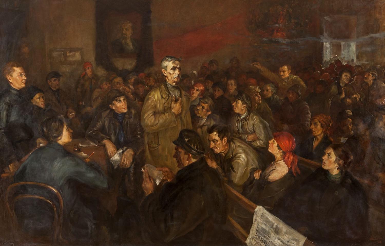 Картина «Ленинский призыв в 1924 году»