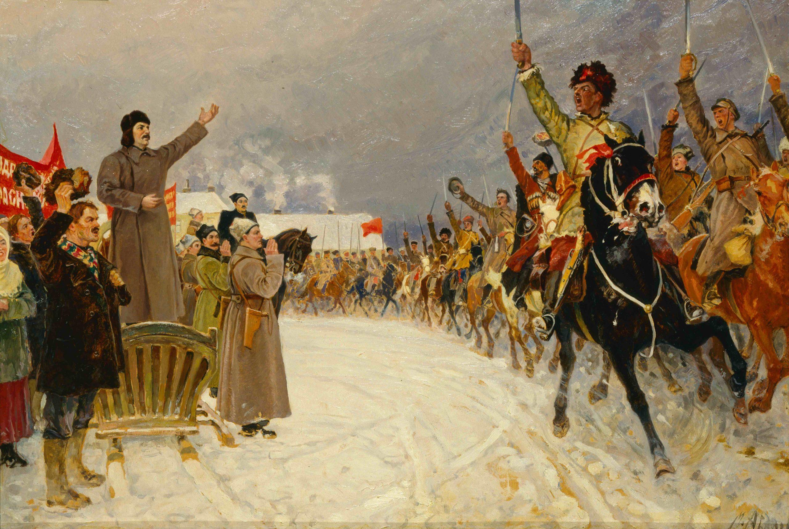 Картина «Смотр частей I Конной Армии» («Приезд И.В. Сталина в Первую конную армию в 1919 г.»)