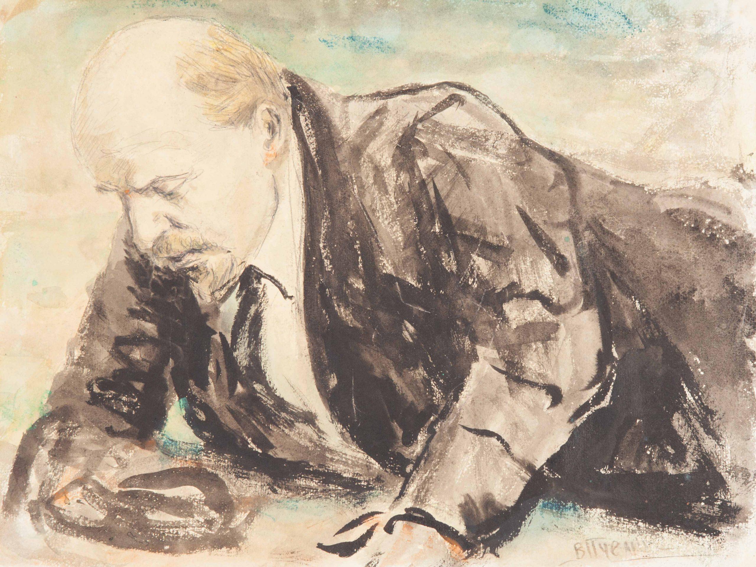 Этюд к картине «Покушение на В.И. Ленина»